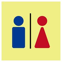 トイレのアイコンイラスト(簡略化・丸)