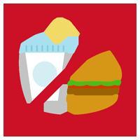 飲食禁止のアイコンイラスト