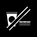飲食禁止のアイコンイラスト(白黒)