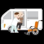 移乗介護のイラスト(高齢者男性)