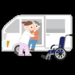 移乗介助のイラスト(高齢者女性)