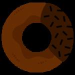 チョコスプレー掛けドーナツのイラスト