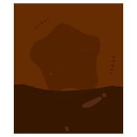 チョコレートコーティングドーナツのイラスト