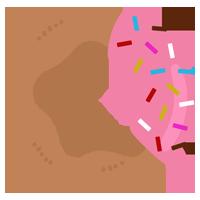 ストロベリーチョココーティングドーナツのイラスト