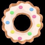 ホワイトチョココーティングドーナツのイラスト