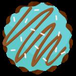チョコミントドーナツのイラスト