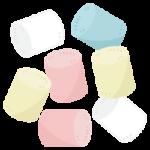 お菓子のマシュマロのイラスト