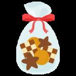 ラッピングされたクッキーのイラスト