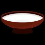 白酒の注がれた盃のイラスト