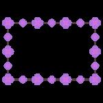 紫色の花のフレームのイラスト