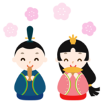 ひな祭りの雛人形のイラスト