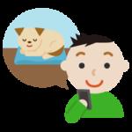 ペット(犬)の見守りのイラスト3