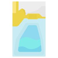 除菌・洗剤のスプレーのイラスト
