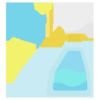 除菌・洗剤のスプレーのイラスト(噴射)