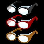 花粉症用のメガネのイラスト