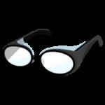 花粉症用のメガネのイラスト(黒)