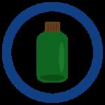 瓶ごみのアイコンイラスト
