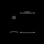 ビン・カンゴミのアイコンイラスト(白黒)