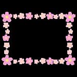 桜の花のフレームのイラスト