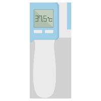 非接触型体温計のイラスト3