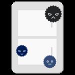 電気のスイッチに雑菌がついているイラスト