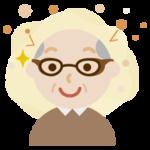 花粉対策メガネをした高齢者の男性のイラスト