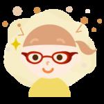 花粉対策メガネをした女の子のイラスト