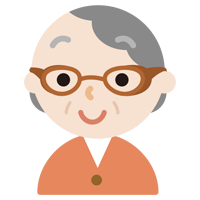 花粉症用の眼鏡をした高齢者の女性のイラスト