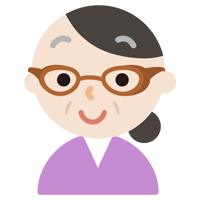 花粉症用の眼鏡をした中年の女性のイラスト