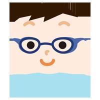花粉症用の眼鏡をした男の子のイラスト