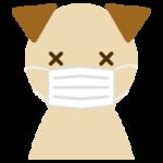 マスクをした犬のイラスト(アップ2)