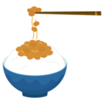 ご飯に乗った納豆のイラスト2