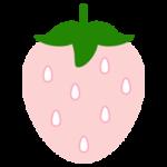 白いいちごのイラスト