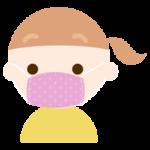 布マスクを着けた女の子のイラストた男の子のイラスト