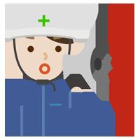 避難指示を出す男性のイラスト2