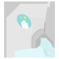チューブ型の除菌ジェルのイラスト2