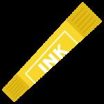 黄色のカラーペンのイラスト