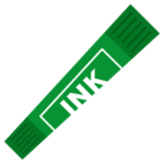 緑色のカラーペンのイラスト