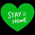ハート「STAY HOME」アイコン