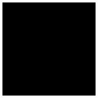 和風の花のイラスト(黒)3