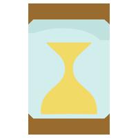 砂時計のアイコンイラスト