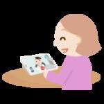 若い女性が女性の医者とビデオ電話しているイラスト1