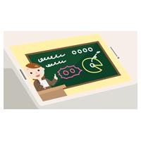 オンライン授業する若い女性の先生のイラスト2