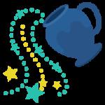 水瓶座のイラスト(12星座)