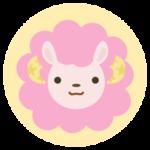 牡羊座の丸いアイコンイラスト(12星座)
