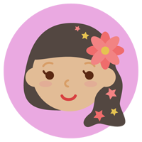 乙女座の丸いアイコンイラスト(12星座)