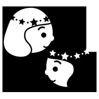 白黒の双子座のイラスト(12星座)