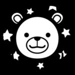 白黒の獅子座のイラスト(12星座)