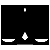 白黒の天秤座のイラスト(12星座)