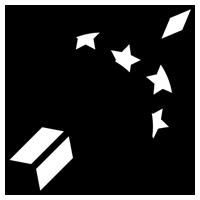白黒の射手座のイラスト(12星座)